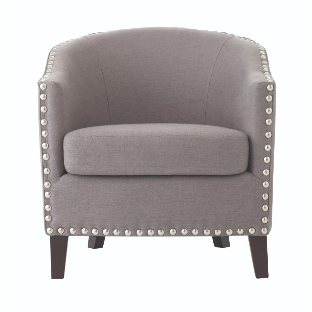 Home Decorators Collection More Linen Dove Grey Club Chair