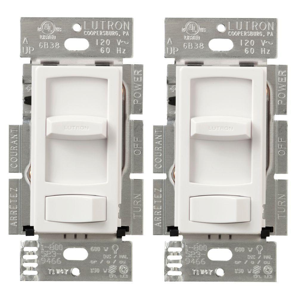 hight resolution of  white lutron dimmers ctcl 153pdh 2 wh 64 1000 lutron skylark contour 150 watt single pole 3