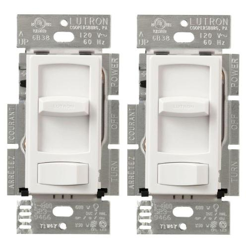 small resolution of  white lutron dimmers ctcl 153pdh 2 wh 64 1000 lutron skylark contour 150 watt single pole 3