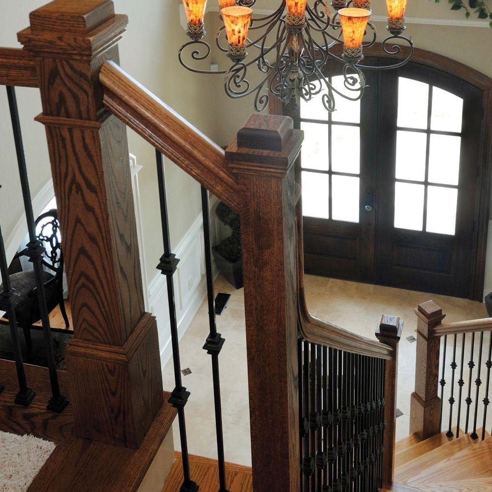 Stair Parts 44 In X 1 2 In Satin Black Single Knuckle Metal | Iron Stair Railing Home Depot | Aluminum Stair | Interior | Rail Kit | Deck Stair | Aluminum Railing