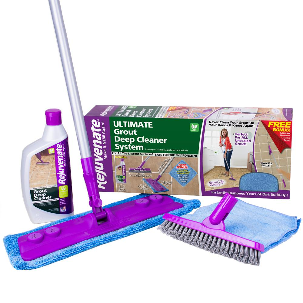 Grout Deep Cleaner System Floor Tile Mop Brush Dirt