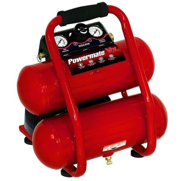 Powermate 2 Gal. 100 Psi Portable Electric Side-stack Air Compressor Kit-vsp0000201.01