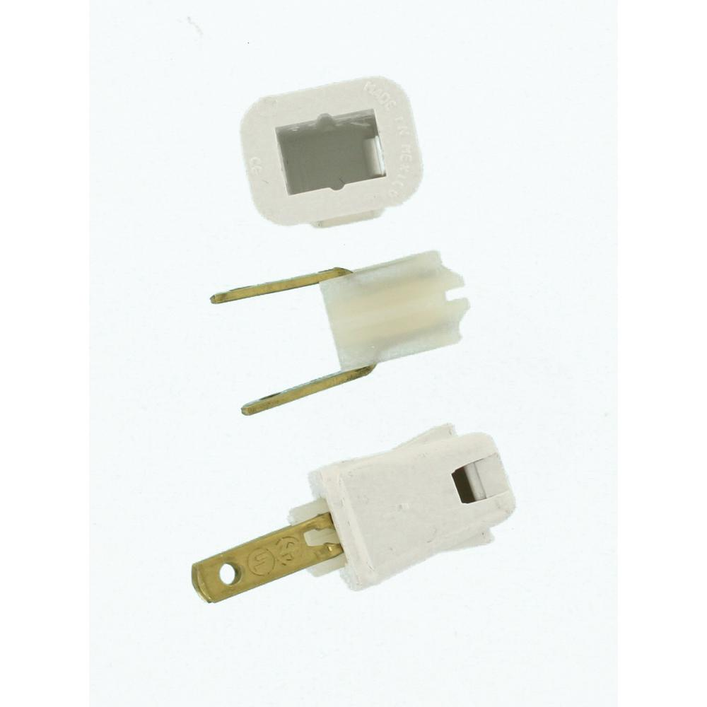 hight resolution of leviton 10 amp 2 pole straight blade plug white