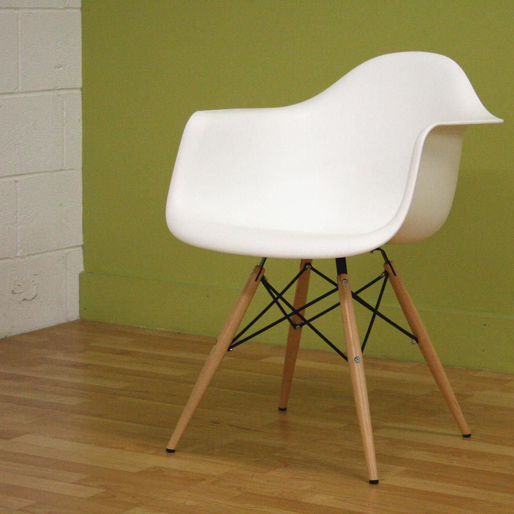 Studio Chairs Baxton Studio Pascal White Plastic Chairs Set Of 2 2pc 3246 Hd