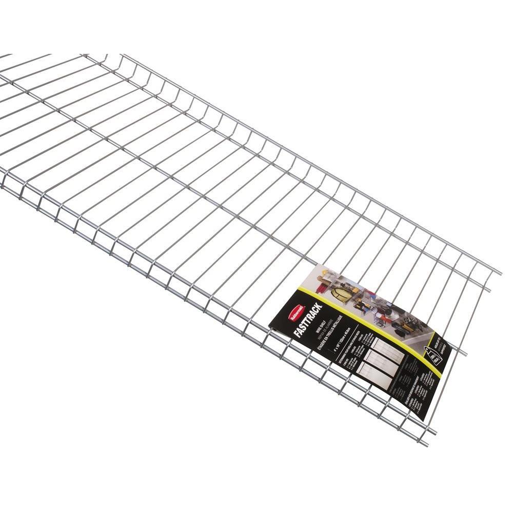hight resolution of rubbermaid fasttrack garage 48 in x 16 in wire shelf