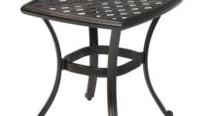 Hampton Bay Belcourt Metal Square Outdoor Side Table