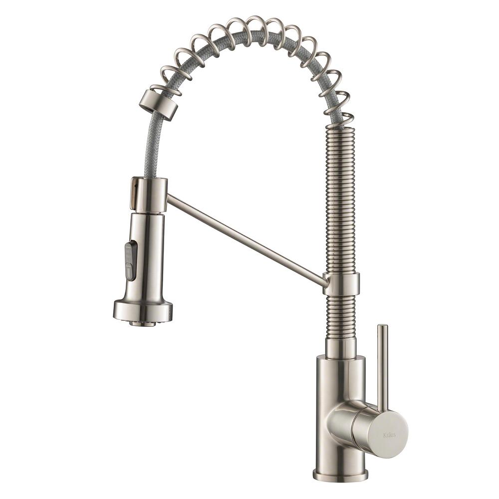 faucet kitchen drawer repair kraus bolden single handle pull down sprayer with dual function sprayhead in stainless steel