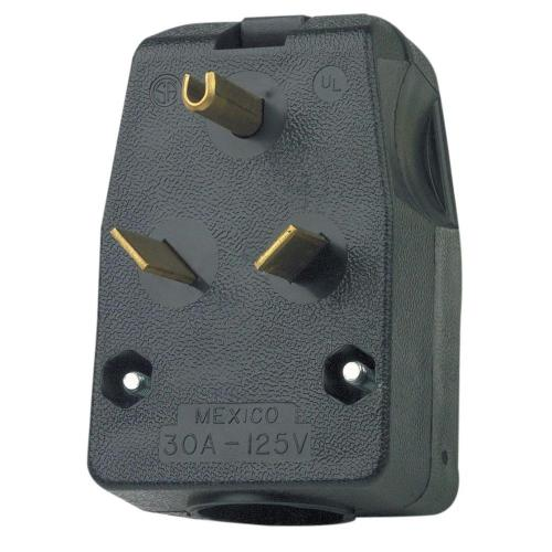 small resolution of leviton 30 amp 125 volt 2 pole angle travel trailer plug black