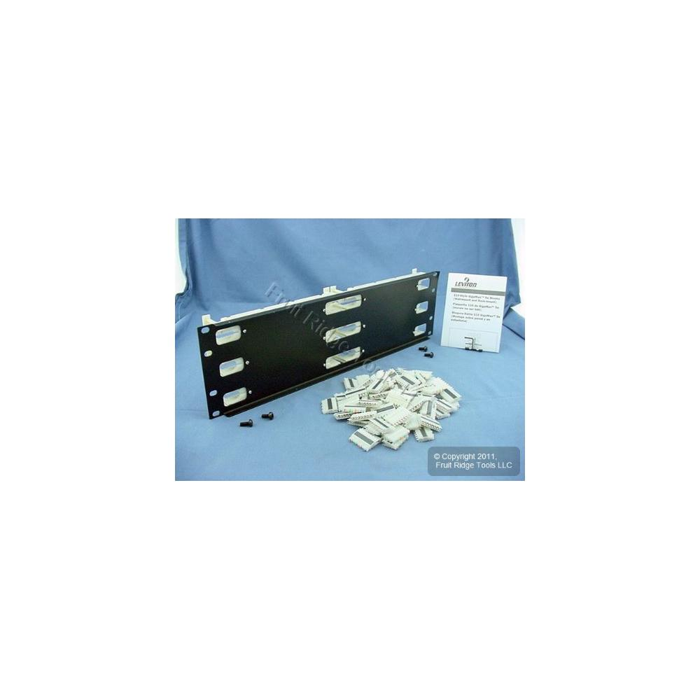 hight resolution of cat 5e 110 style wiring block kit rack mount 3ru with c 4 connector clips ivory 300 pair