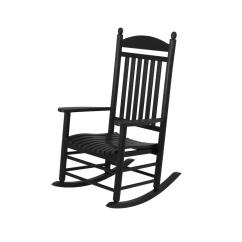Black Rocking Chairs Double Papasan Chair Frame And Cushion Polywood Jefferson Patio Rocker J147bl The Home Depot
