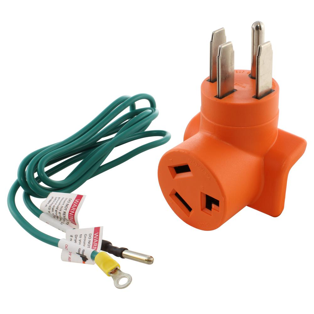 hight resolution of ac works 4 prong 14 50p plug to 30 amp 3 prong dryer 10 30r adapter ac plug wiring 30