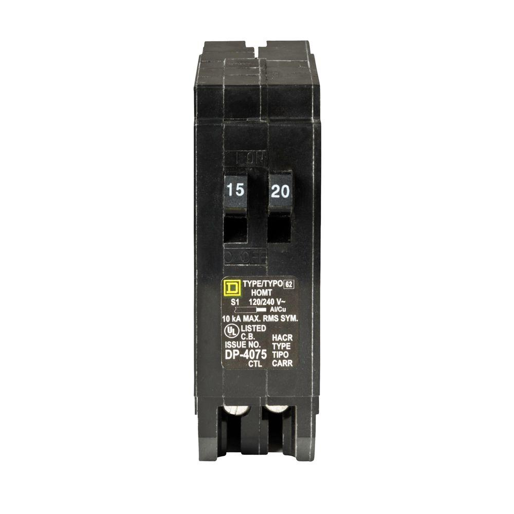 medium resolution of square d homeline 15 amp 20 amp single pole tandem circuit breaker