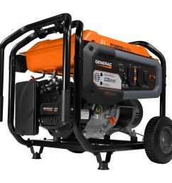 generac gp6500 6500 watt gasoline powered portable generator with co sense 49  [ 1000 x 1000 Pixel ]