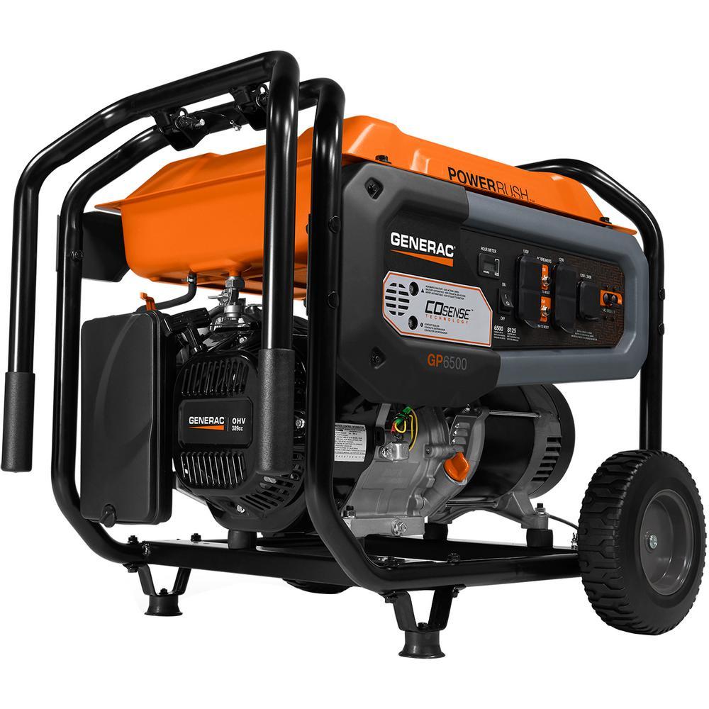 hight resolution of generac gp6500 6500 watt gasoline powered portable generator with co sense 49