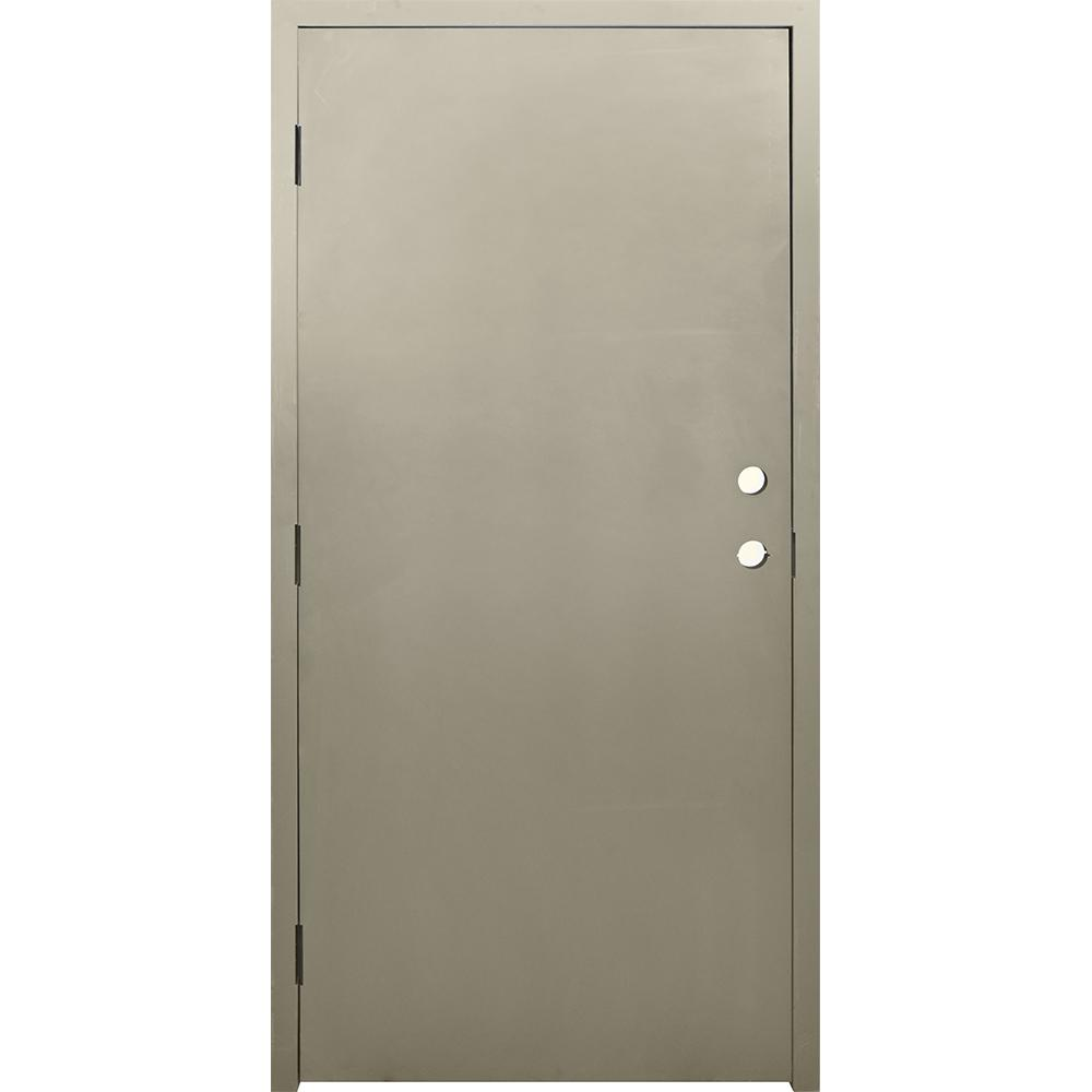 Krosswood Doors 36 In X 80 In Dks Flush Primed Steel