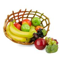 Mind Reader Gold Aluminum Decorative Fruit Bowl, Fruit ...