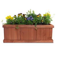 Pennington 28 in. x 9 in. Wood Planter Box-100045296 - The ...