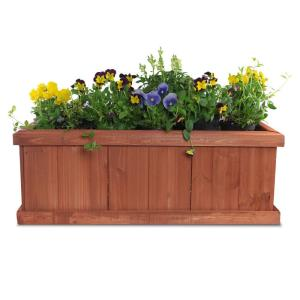Pennington 28 in x 9 in Wood Planter Box100045296  The