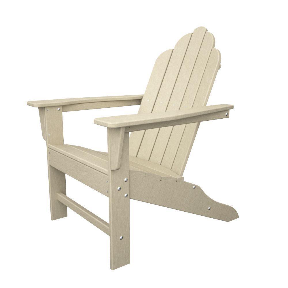 reviews for polywood long island sand plastic patio adirondack chair eca15sa the home depot