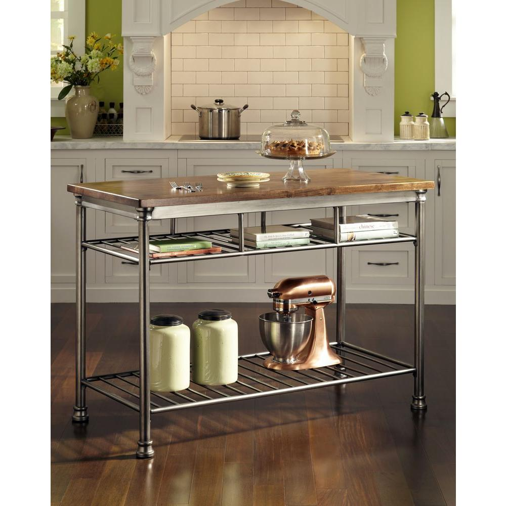 metal kitchen island black mat rugs home styles the orleans vintage carmel utility table 5061 94