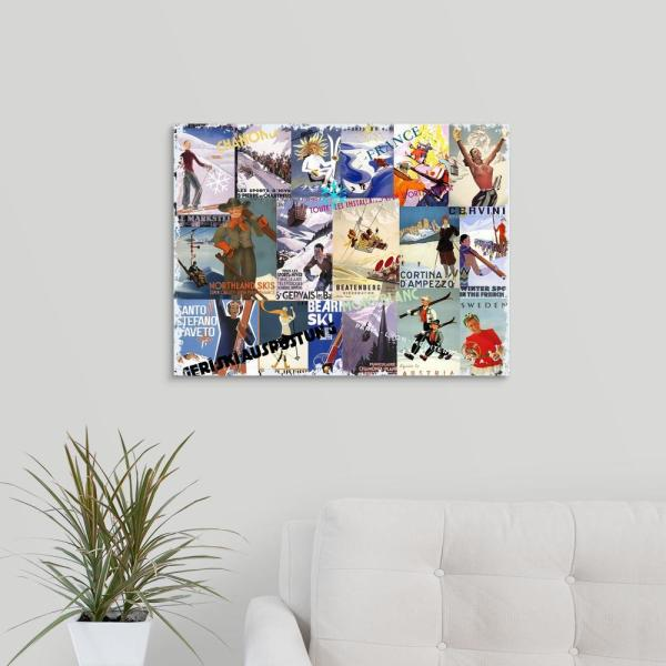 ski vacation collage by