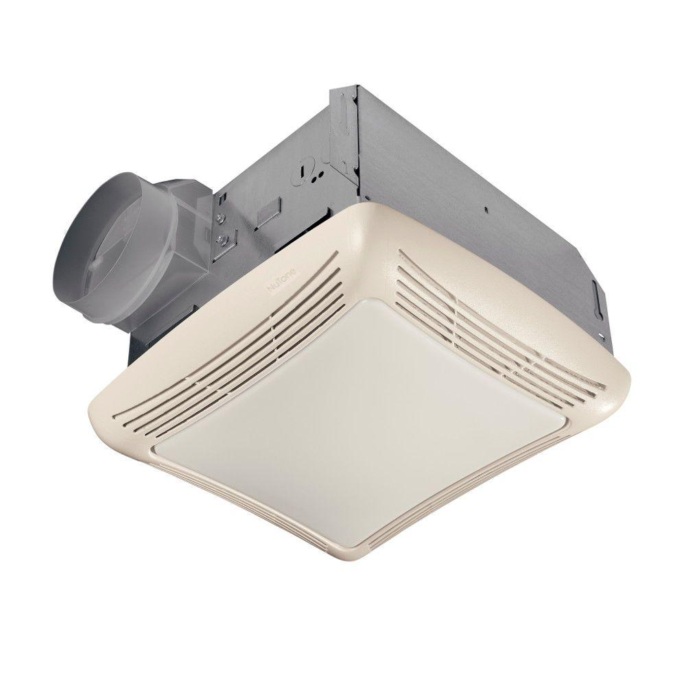 NuTone 50 CFM Ceiling Bathroom Exhaust Fan with Light763N  The Home Depot