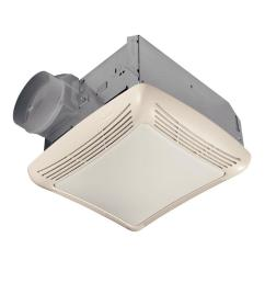 nutone 50 cfm ceiling bathroom exhaust fan with light [ 1000 x 1000 Pixel ]