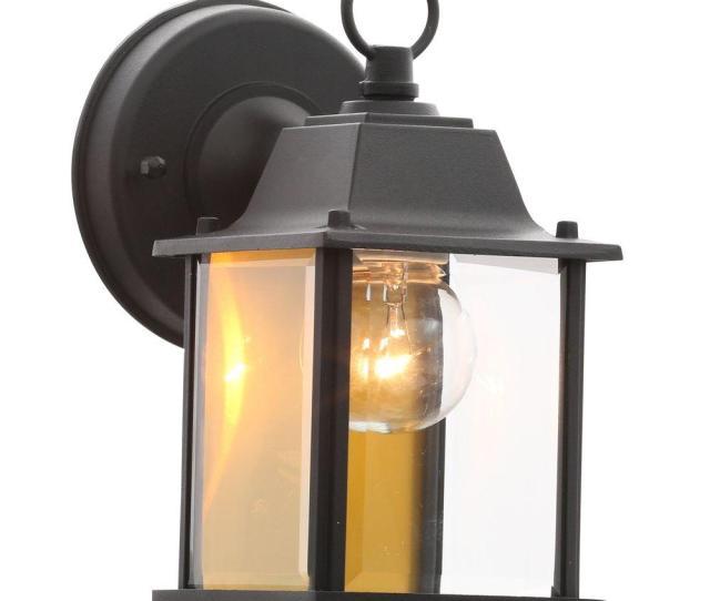 Light Black Outdoor Wall Lantern