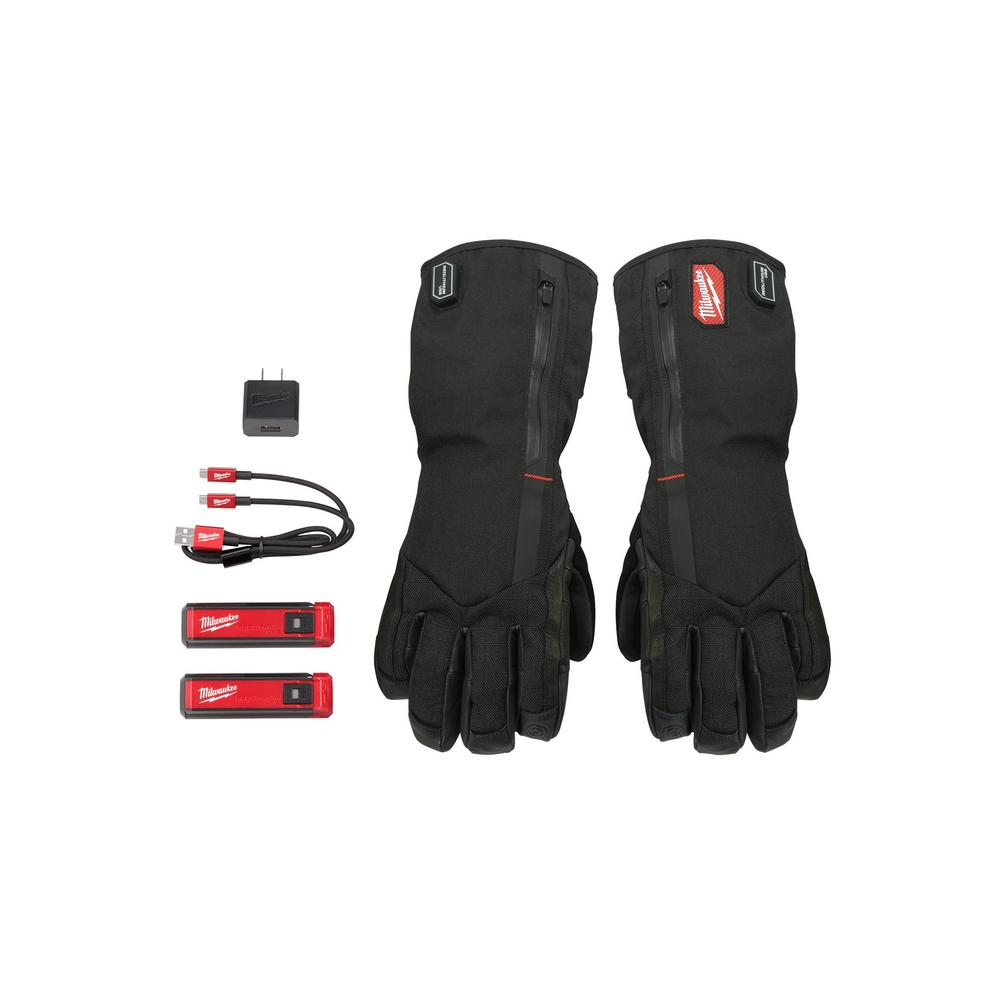 medium resolution of milwaukee medium heated gloves with battery and charger