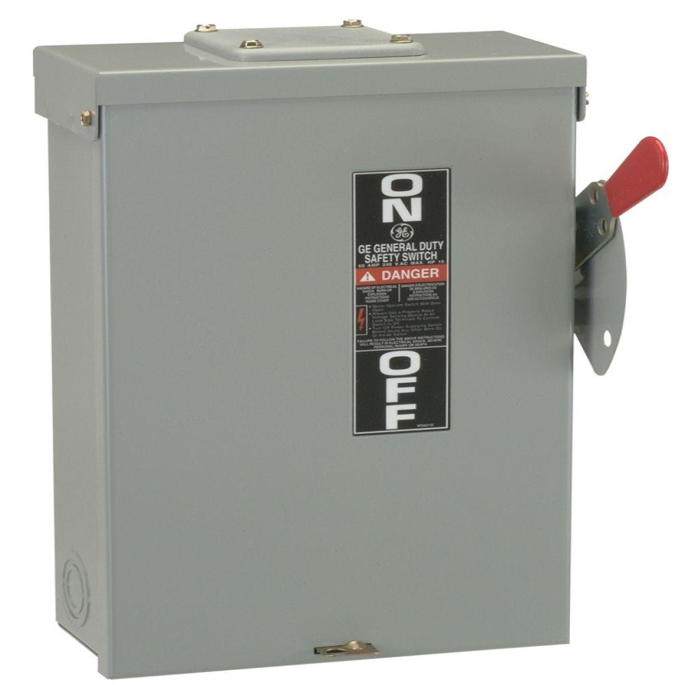 medium resolution of ge 100 amp 240 volt fusible outdoor general duty safety switch