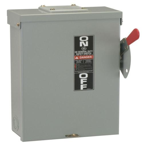 small resolution of ge 100 amp 240 volt fusible outdoor general duty safety switch