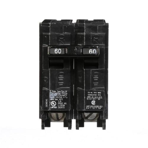 small resolution of siemens 60 amp double pole type qp circuit breaker