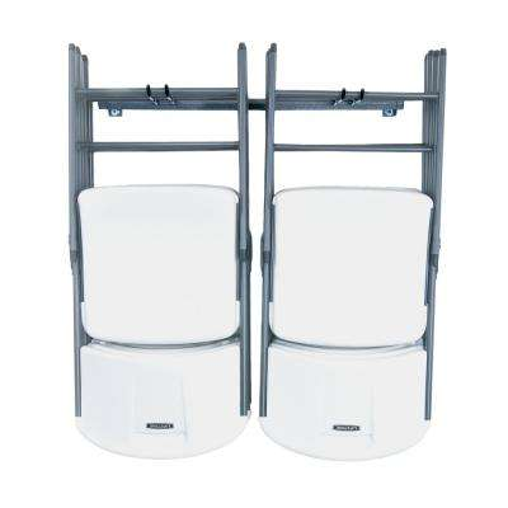 folding chair storage hooks quilted swivel monkey bars wall mounted steel organization 10 rack