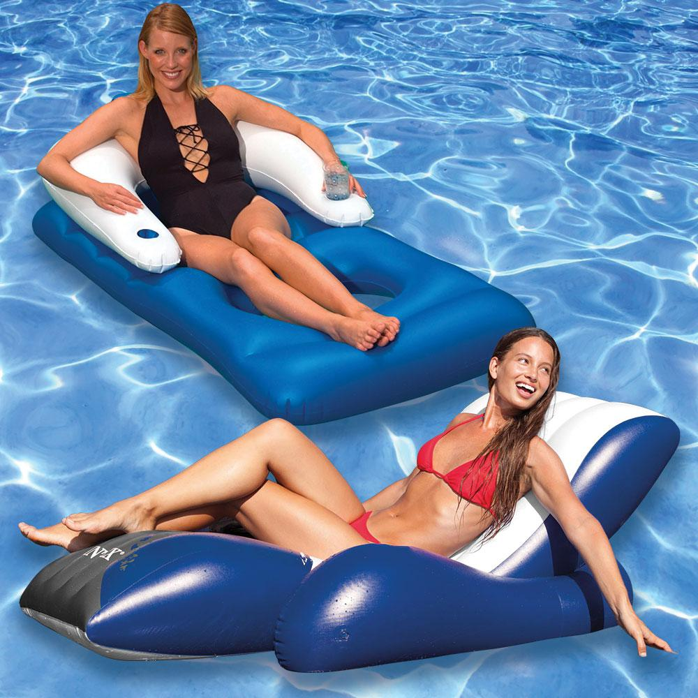 Intex Floating Recliner and Classic Swimming Pool Lounger