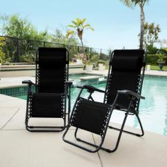 Zero Gravity Chair 2 Pack Butterfly Covers Walmart Caravan Sports Black Metal Infinity Patio