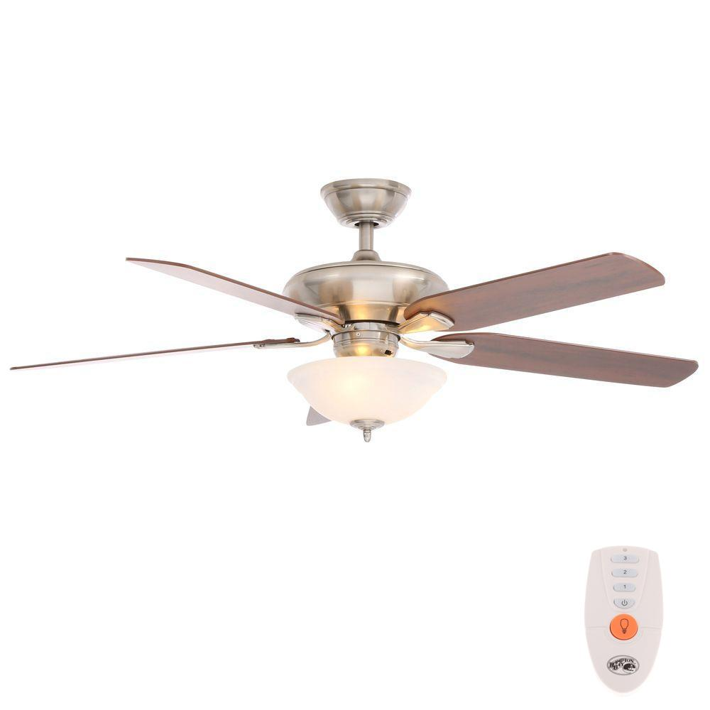 hight resolution of hampton bay flowe 52 in led indoor brushed nickel ceiling fan with hampton bay ceiling fan wiring ceiling systems