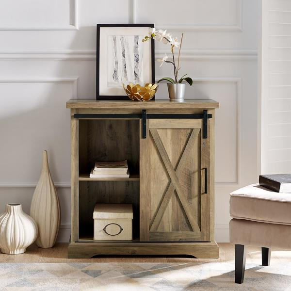 Walker Edison Furniture Company 32 In Rustic Oak Rustic
