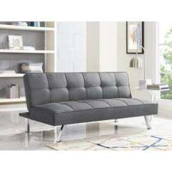 Armless Sofas Wooden Outdoor Sofa Loveseats Living Room Furniture The Home Depot Chester Grey Convertible