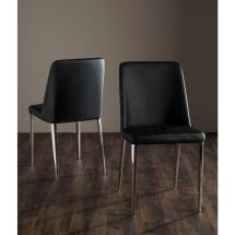 Safavieh Baltic Black Bicast Leather Dining Chair Set Of