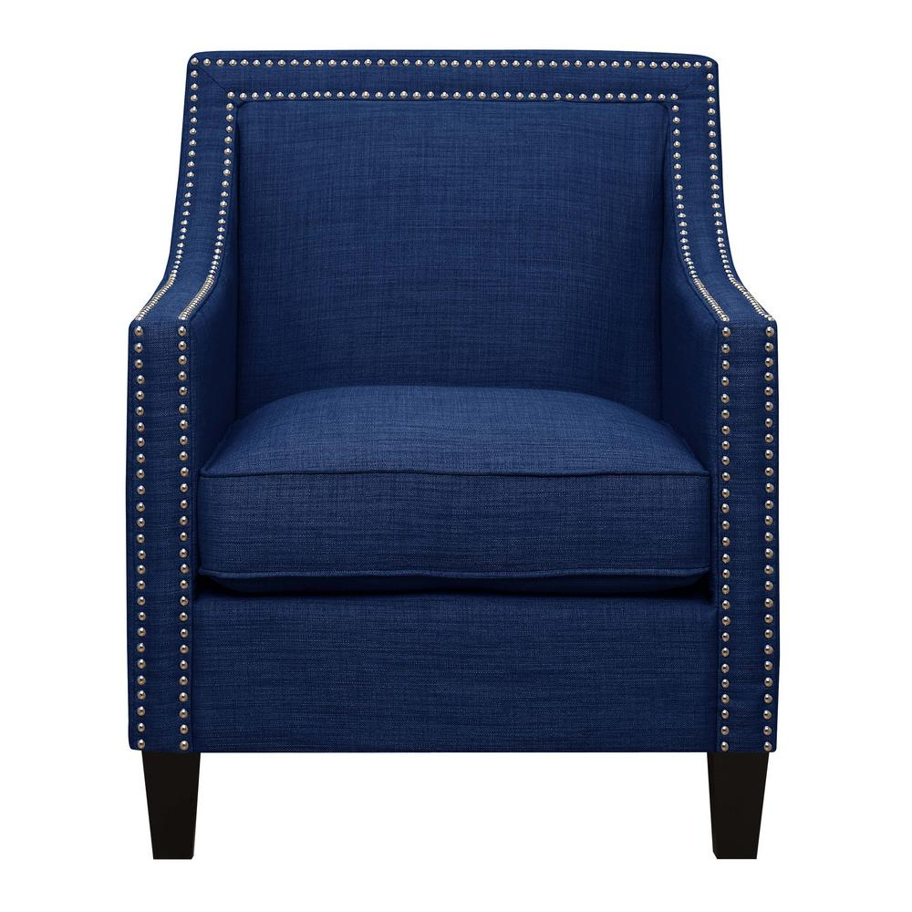 Emery Blue Arm ChairUER080100CA  The Home Depot