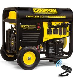champion power equipment 7 500 watt gasoline powered wireless remote start portable generator with champion 439cc [ 1000 x 1000 Pixel ]