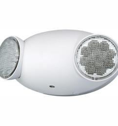 2 light white led emergency fixture unit [ 1000 x 1000 Pixel ]