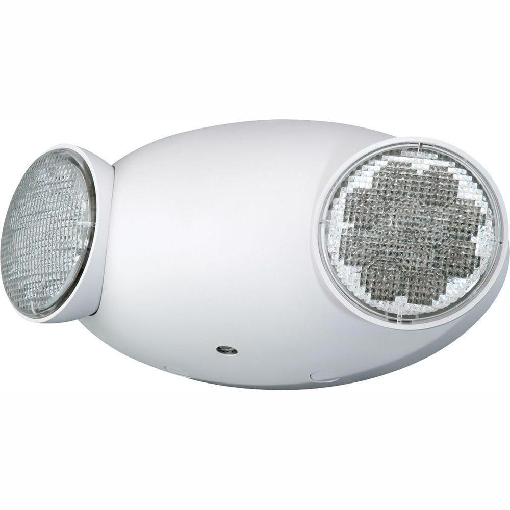 hight resolution of 2 light white led emergency fixture unit