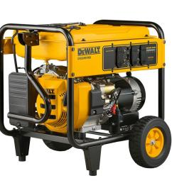 dewalt 7 000 watt gasoline powered electric start portable generator [ 1000 x 1000 Pixel ]