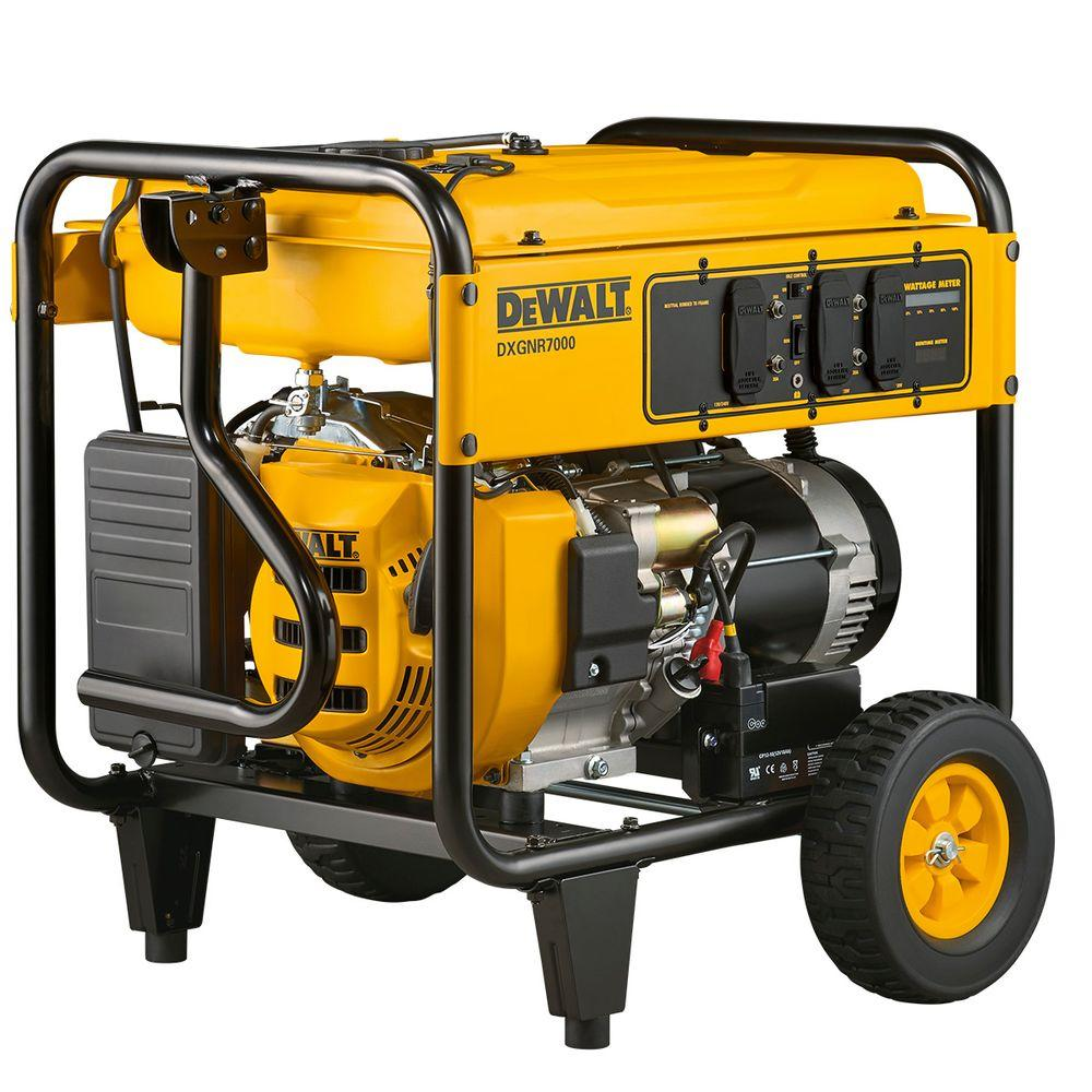 medium resolution of dewalt 7 000 watt gasoline powered electric start portable generator