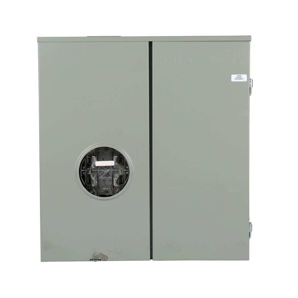 hight resolution of 400 amp 4 space 4 circuit levery bypass meter main combination with and ringless
