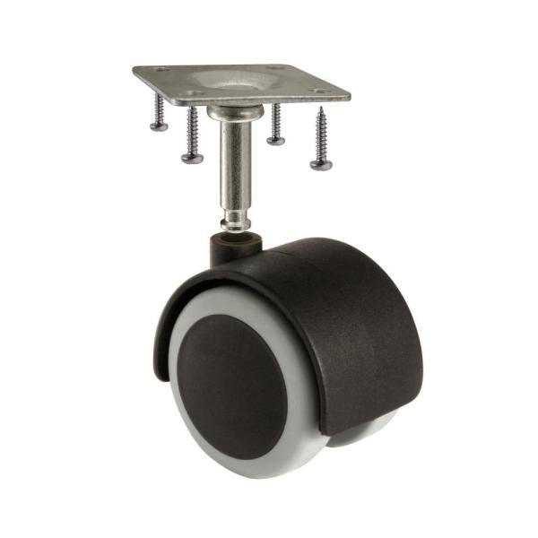 2 Rubber Caster Wheels for Office Chair