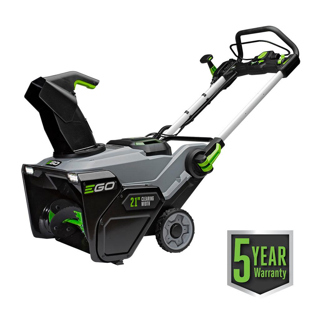 medium resolution of 21 in 56 volt lithium ion single stage cordless electric snow blower with 2 7 5ah batteries and charger included