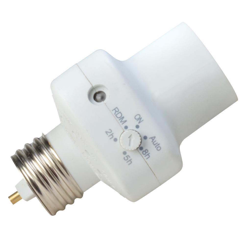medium resolution of woods 2 5 8 hour photocell control light socket timer white