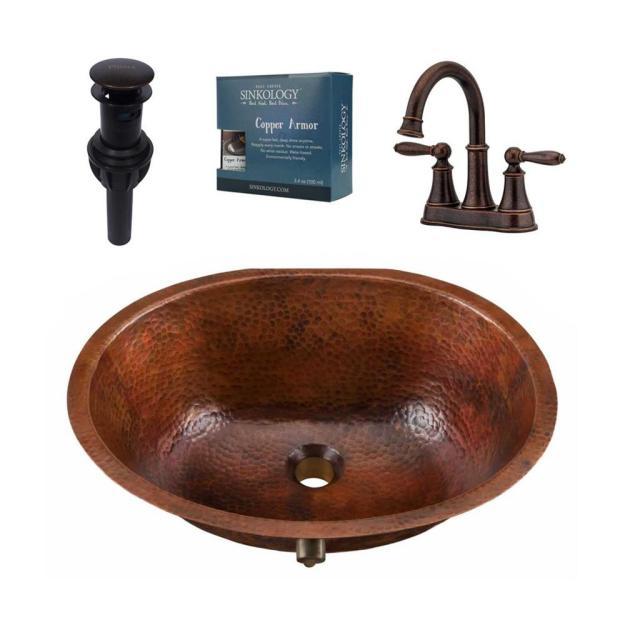 sinkology freud all-in-one undermount copper bathroom sink design